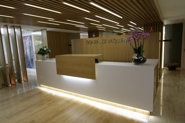 Mostrador de recepci n para oficina z2 recepciones de - Muebles para clinicas dentales ...