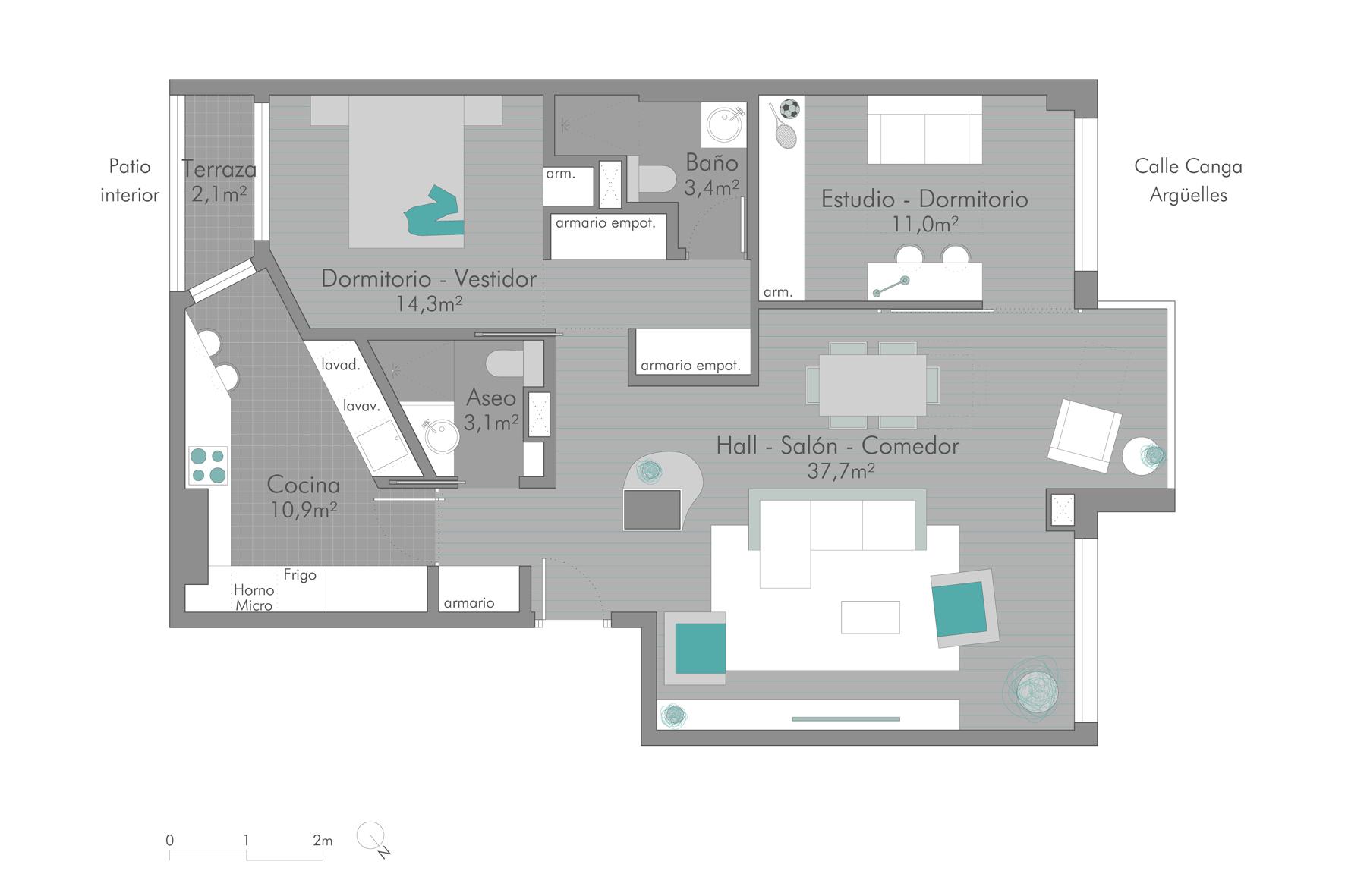 Reforma de diseño en Gijón Ezcurdia Estudio Bher 02