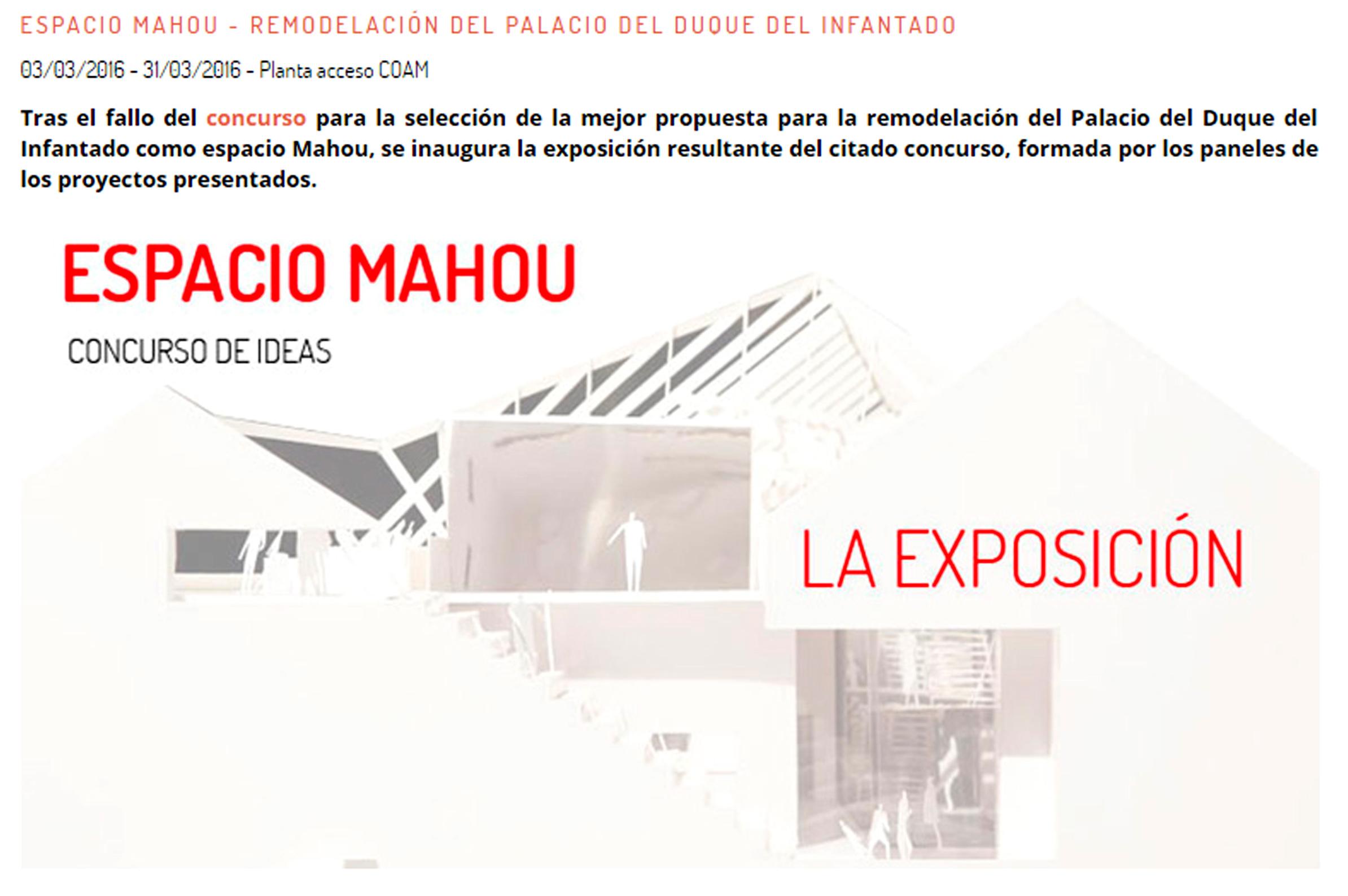 Concurso Espacio Mahou Estudio Bher Exposición 1